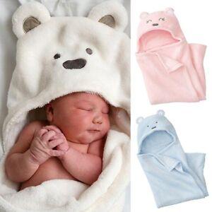 a18d4ea4f Baby Soft Sleep Blanket Infant Hooded Bathrobe Bath Towel Coral ...