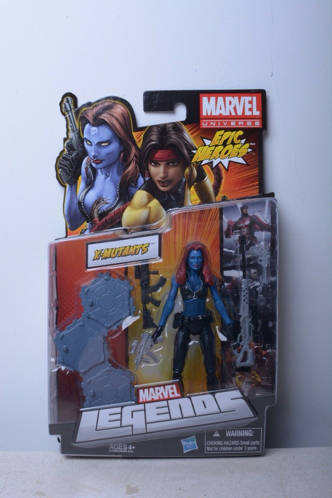 "Marvel Legends 6"" MYSTIQUE VHTF  FIGURE WITH GUNS AND STAND X MEN"