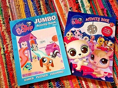 Littlest Pet Shop 2 Books 24 Page Colouring Book W Stickers Brand New Ebay