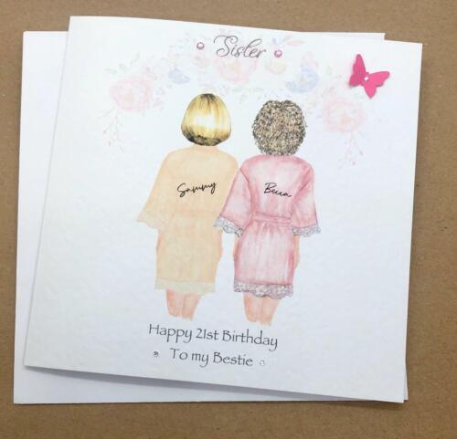 Beautiful Birthday Card for Best Friend// Sister// cousin etc 25th 30th 35th 40th