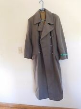 VTG East German Army Coat Grenztruppen der DDR Border Guard Wool Trench Cold War