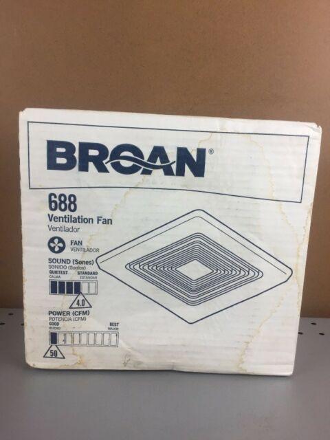 "Broan Bath Fan 50 Cfm 3-5/8 ""X7-1/4 ""X7-1/2 "" 4.0 Sones Whit"