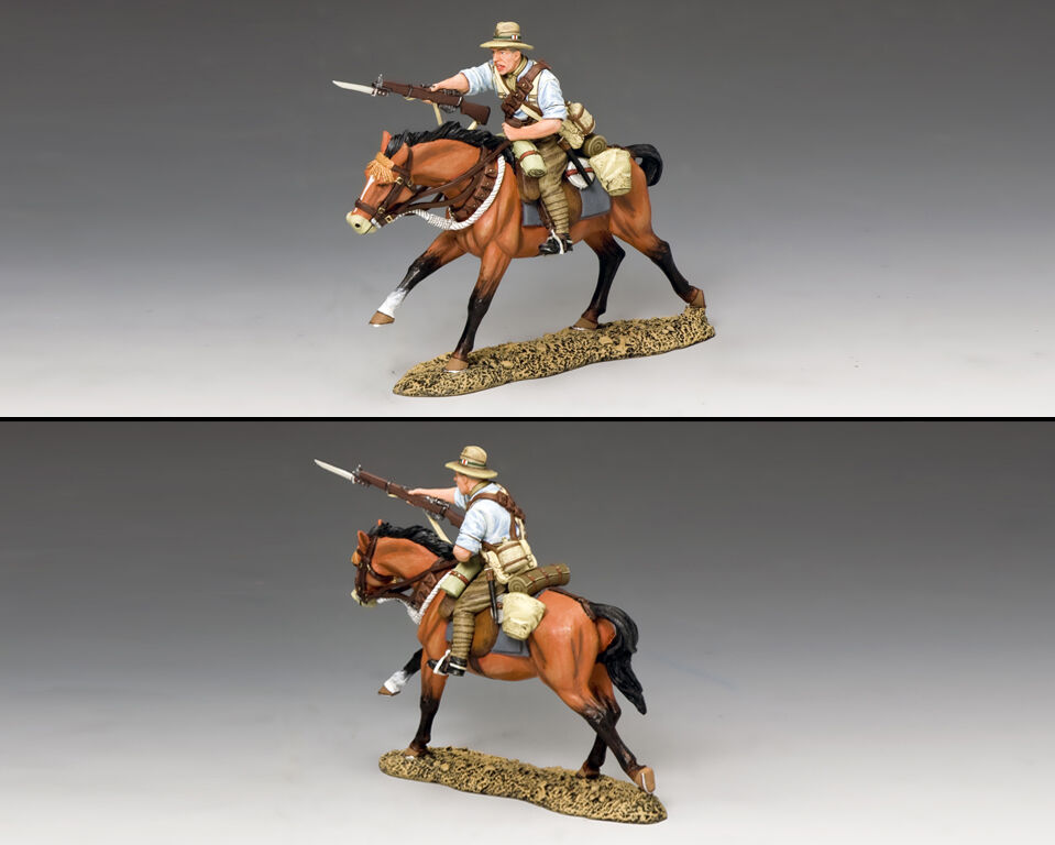KING AND COUNTRY New Zealand Mounted Kiwi Charging with Rifle AL75 AL075