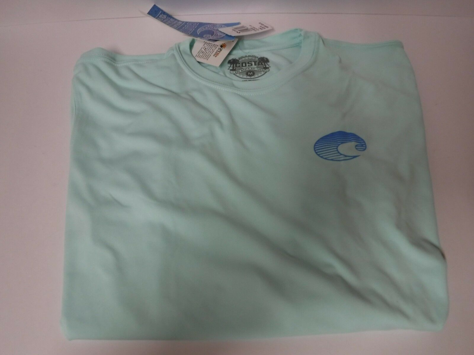 New Authentic Costa Del Mar Technical Crew Mint L S T Shirt   Shield   Large