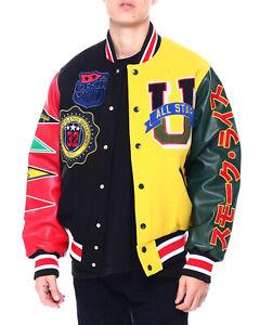 Smoke Rise Color Block Wool Varsity Jacket