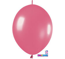 """10ct. FUCHSIA PINK Link-o-Loon 6"""" Latex Helium Linking Balloons ARCHES ARBORS"""