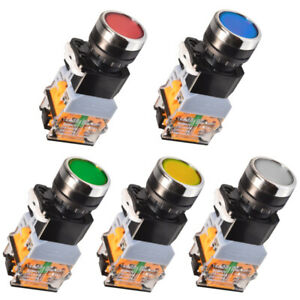 LA38-Maschinen-Schalter-Drucktaster-Industrie-Einbau-22mm-Taster-Beleuchtet