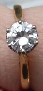 Solitaire 0.66ct certificated I VS diamond brilliant 18ct yellow white gold