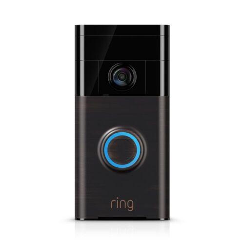 Bague vidéo sans fil Sonnette WiFi intégré Haut-parleur 2-Way Talk voir et parler