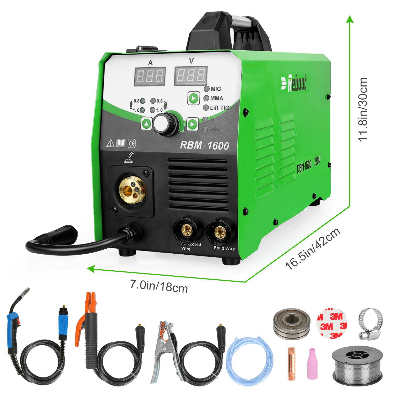mirthweld MIG TIG Welder 160A IGBT Inverter Flux Core Wire 5 in 1 Welding Machine & Torch
