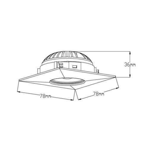 Transformateur Nickel Blanc Chaud 3er Set DEL installation feux Einbauspot rectangulaire 4 W ip44 inlk