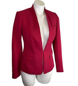 NWT White House Black Market Blazer Jacket 0 XS Empress Red Long Sleeve NEW $160