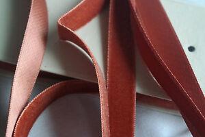 10m-bolt-vtg-orange-velvet-german-5-8-034-rayon-ribbon-trim-Millinery-doll-dress