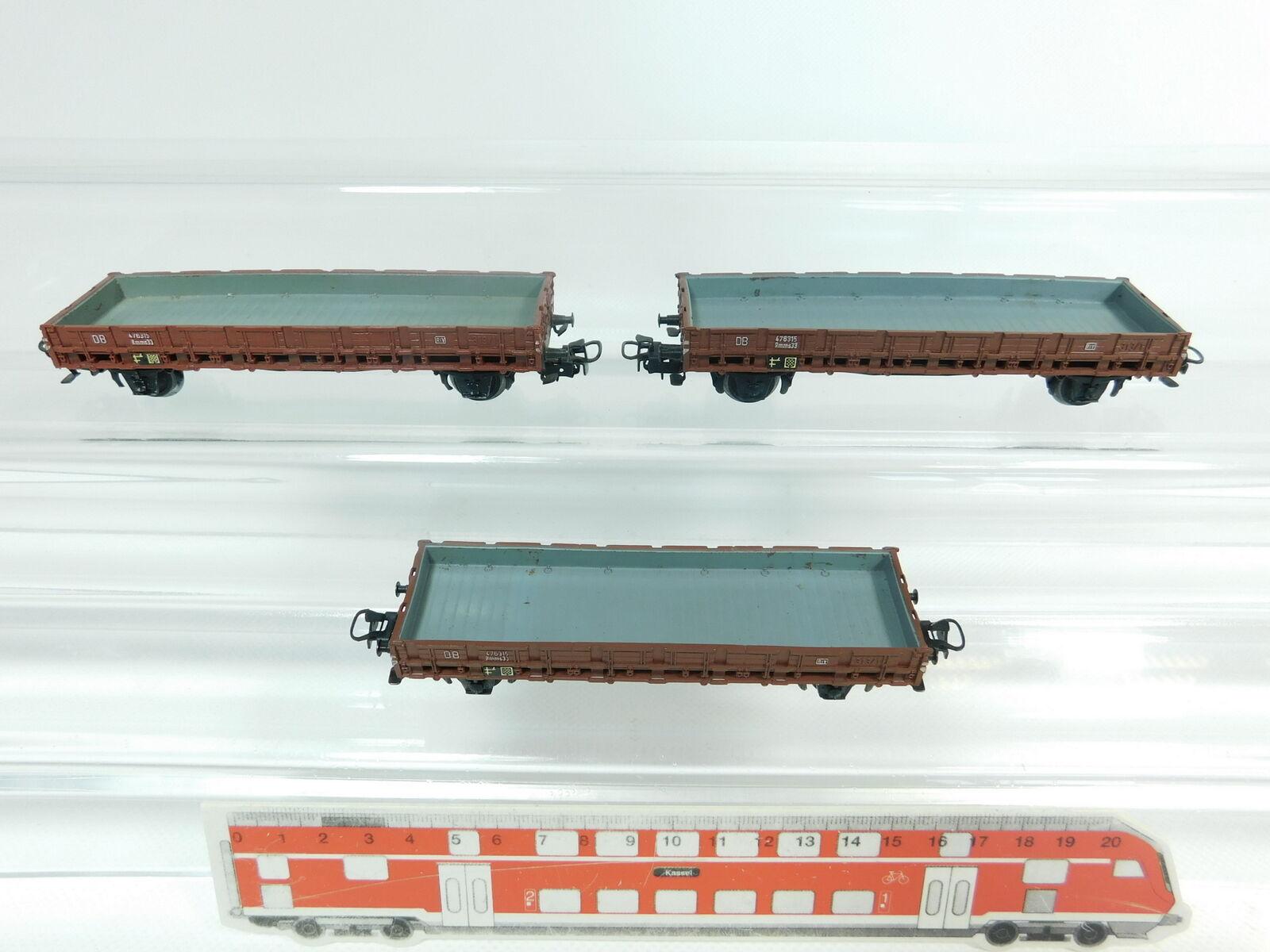 Bg571-0, 5 X MÄRKLIN H0 AC 4606 Low-Sided Wagon Freight Car 313 1 dB