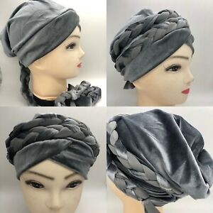 Velvet-Hijab-Bonnet-Turban-Hats-Pretty-Cap-Plain-Chemo-Muslim-Women-Fashionable