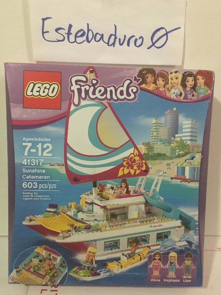 Lego Friends Sunshine Catamaran 41317 Olivia Stephanie Liam Minifigures