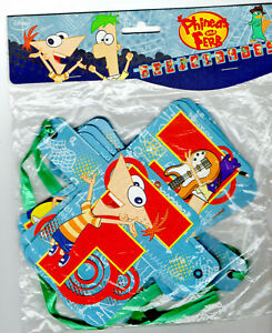 GUIRLANDE-BANDEROLE-PHINEARS-AND-FERB-DISNEY-ANNIVERSAIRE-ENFANT-NEUF