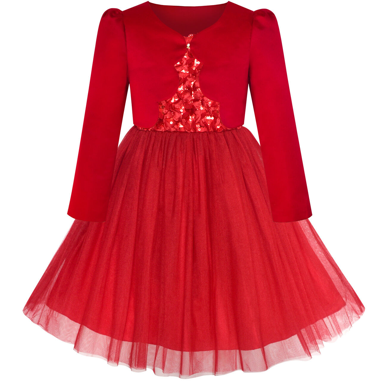 Bridesmaid Flower Girls Pageant Dress+Bolero in 6 Colours from 2 to 12 Years