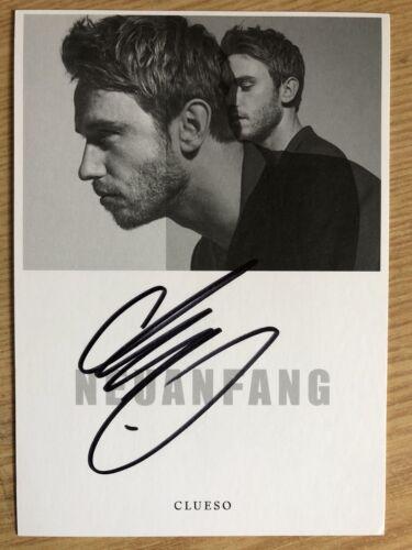 Clueso AK Neuanfang Autogrammkarte original signiert Rückseite Kunstpostkarte