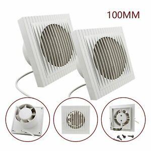 2X-10CM-Wandventilator-Badezimmer-Abluftventilator-Badluefter-Ventilator-Leise