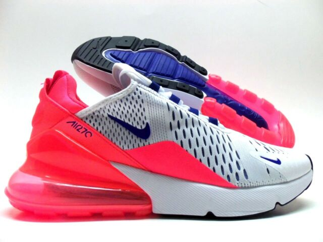 55796c6661 NIKE AIR MAX 270 WHITE/ULTRAMARINE-SOLAR RED SIZE WOMEN'S 6 [AH6789-