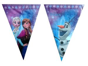 Disney-Frozen-drapeau-banniere-Bunting-Enfants-Fete-D-039-Anniversaire-Decoration-Filles