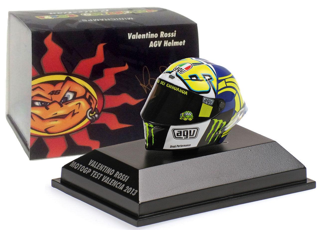 Minichamps Valentino Rossi Helmet - MotoGP Valencia Test 2013  8 skala