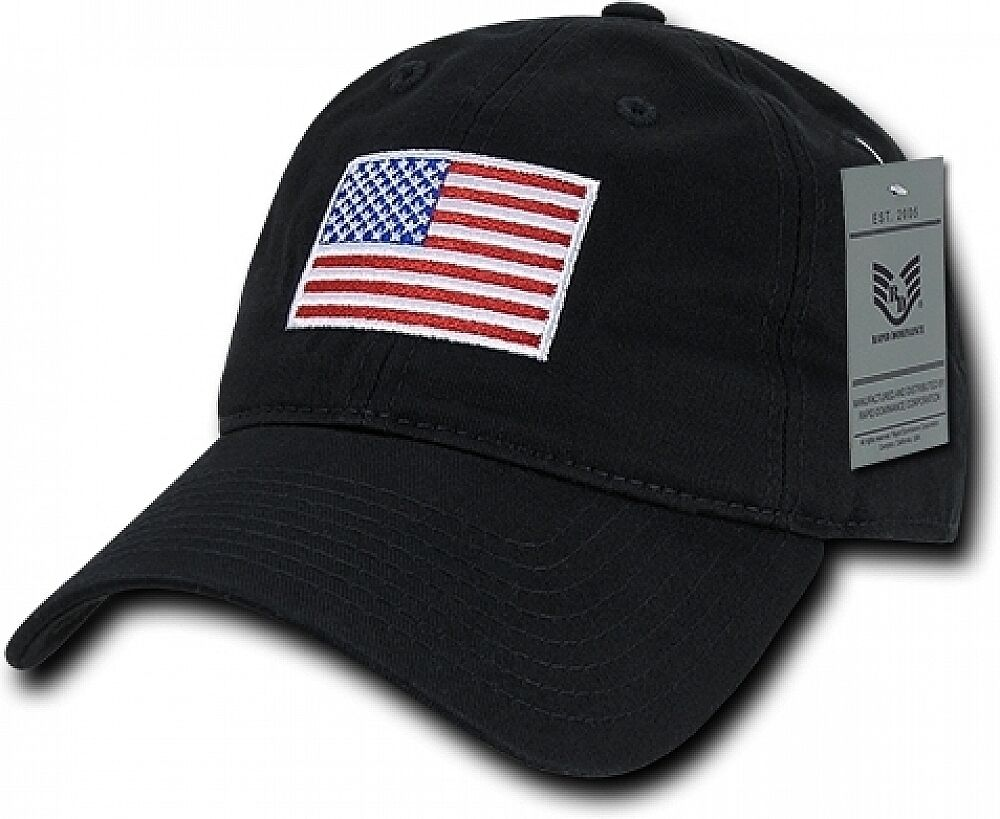 10909bfe9ac USA Flag is High Quality embroidered onto the hat. 100% Washed cotton.  Comfort Fit.