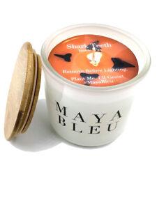 Maya Bleu Shark Tooth Candle White 16oz