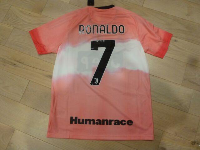 Adidas 2020 Juventus #7 Ronaldo x Pharrell Williams Humanrace Pink Jersey Medium