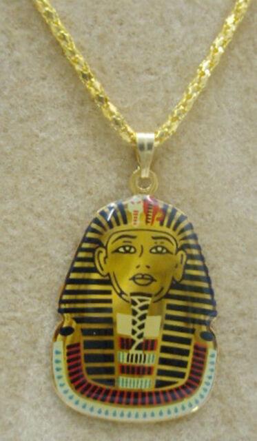 Egyptian king Tut Necklace Pendant Ankh Ancient Pharaoh Egypt Jewelry Handmade