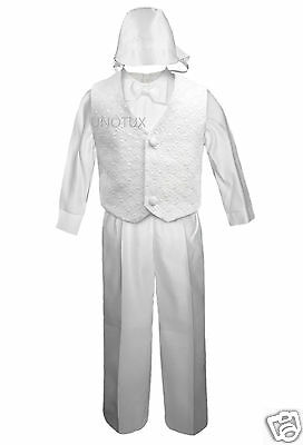 Boy Infant Baby Toddler Christening Baptism Formal Vest Suit S M L Xl 2t 3t 4t