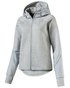 huge discount 56fea b93d1 Details zu PUMA Damen EVOSTRIPE FZ Jacke Sweatjacke Trainingsjacke Gray  Hoodie