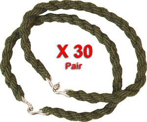 30-Paires-Pantalon-Torsions-Twist-Elastique-Jambe-Liens-Army-Cadet-Military-30-X