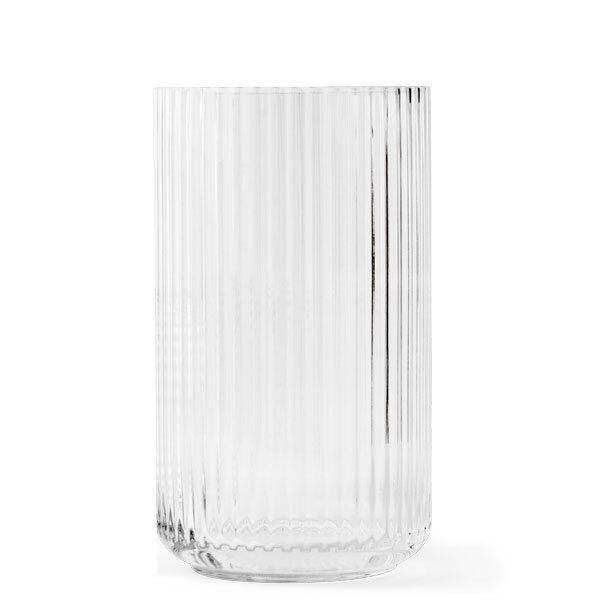Lyngby porcelain jarrón de cristal claro (31cm)