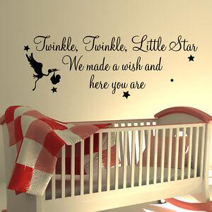 Funkeln little star wand zitat kinderzimmer kinder kunst for Wandspruche kinderzimmer