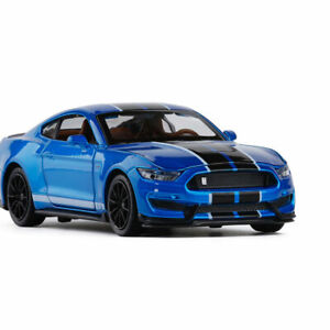 1-32-Ford-Mustang-Shelby-GT350-Model-Car-Diecast-Toy-Vehicle-Pull-Back-Blue-Kids