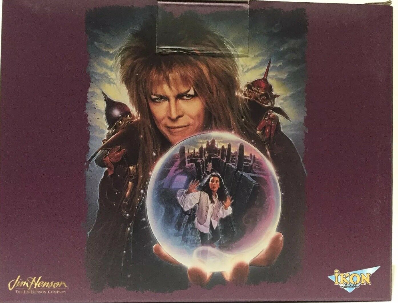 Labyrinth - Sarah etched in Crystal Ball Replica