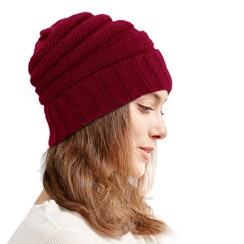 6153b41b2cf Knit Infinity Scarf Beanie Hat Set Winter Warm Scarfs Scarves Women Men Hats  for sale online