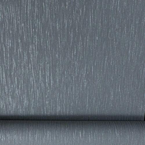 Grandeco Plain Black Charcoal Crystal Metallic Glitter Textured Vinyl Wallpaper