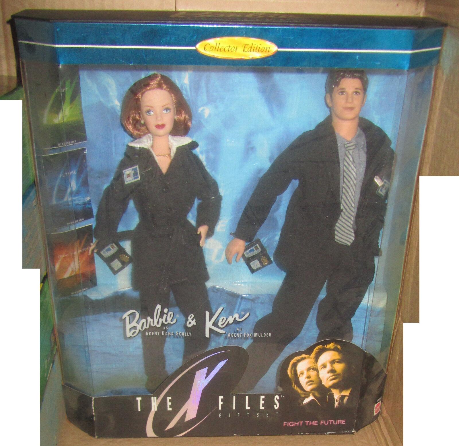 BARBIE & KEN THE X-FILES GIFTSET 1998 NRFB Mattel SPESE GRATIS