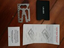 Lever Gear Toolcard Pro With Money Clip 40 In 1 Credit Card Multitool Sleek M