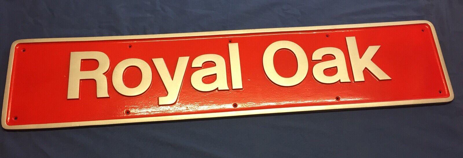 directo de fábrica British Rail English Electric Class50 Royal Oak Oak Oak 50017 Name Plate Replica  sin mínimo