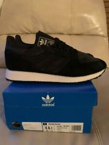NIB-Adidas-Forest-Grove-Mens-Retro-Running-Shoes-Suede-Black-B37960-Size-11-5