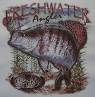 ALL AMERICAN OUTFITTERS FRESHWATER CRAPPIE ANGLER FISHING FISH SHIRT #464