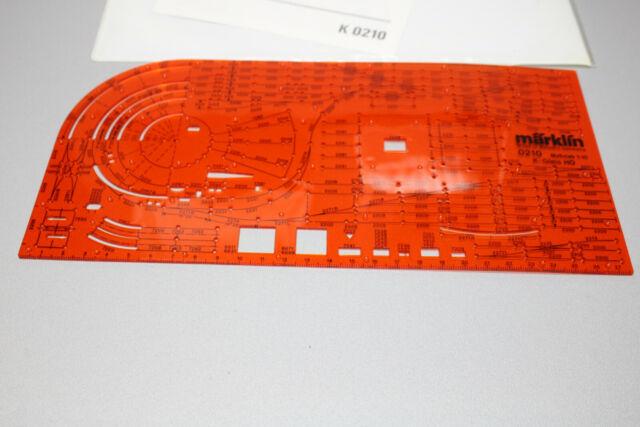 Märklin 0210 K-Gleis Schablone Spur H0 OVP