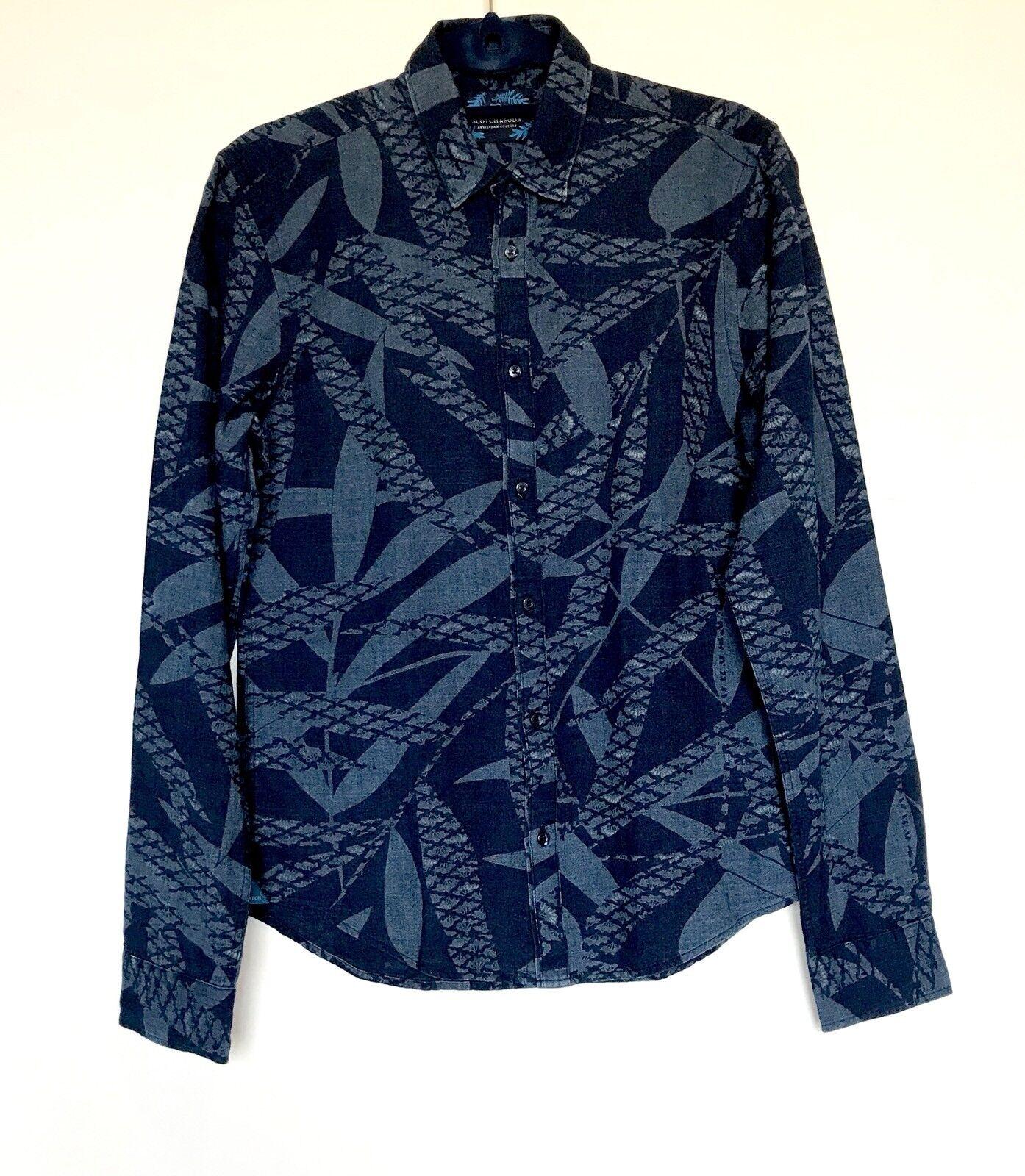 Scotch & Soda bluee Linen   Cotton Mix Shirt. NWT Large Retail  Price