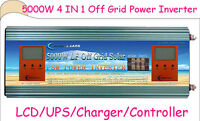 4 In 1 Off Grid 5000w Lf Sp Psw Power Inverter 24v Dc/110v,220v Ac/1200w Solar