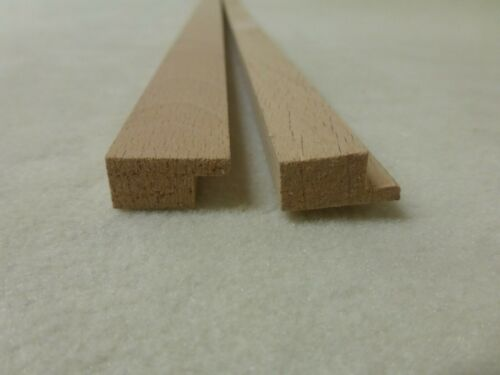 1Stk 100cm Bildereiste Buche 10x20mm Rahmen Holzleisten B346