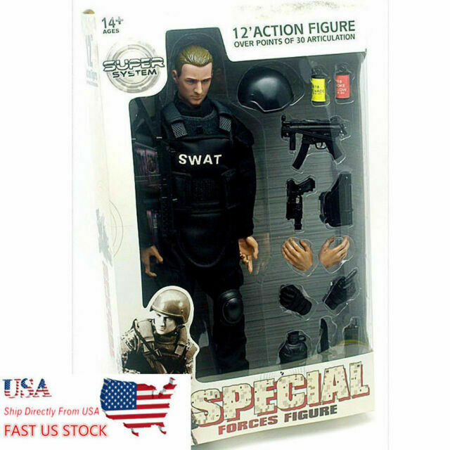US 1//6 SWAT Soldier Action Figure Full Set with Uniform Accessories NB06A Gift